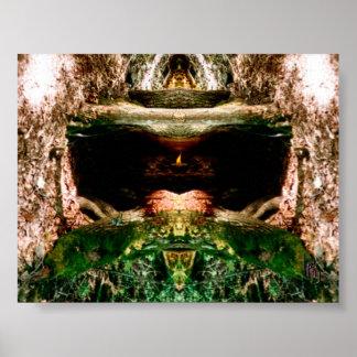 Capilla del bosque póster