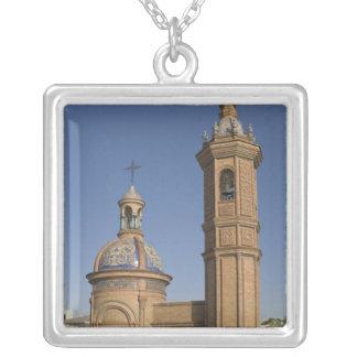 Capilla del Carmen, Seville, Spain Square Pendant Necklace