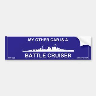 Capilla del crucero de batalla pegatina para auto