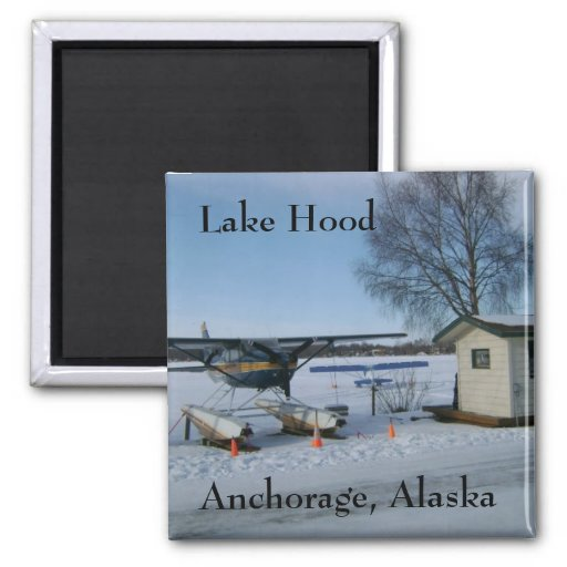 Capilla del lago, Anchorage, Alaska Iman De Frigorífico