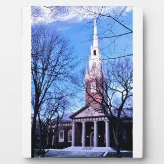 Capilla del monumento de Harvard Placa Para Mostrar