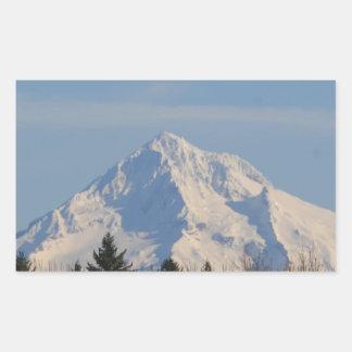 Capilla del Mt, Oregon Pegatina Rectangular