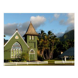 Capilla del norte de la orilla de Kauai Hawaii Tarjeta Postal