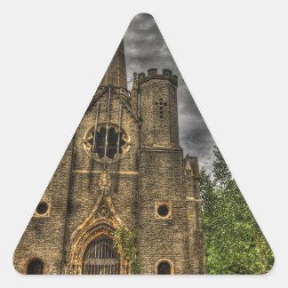 Capilla del parque de Abney Pegatina Triangular
