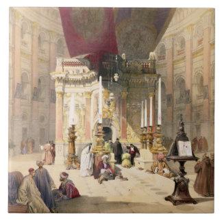 Capilla del sepulcro santo, el 10 de abril de 1839 azulejo cuadrado grande
