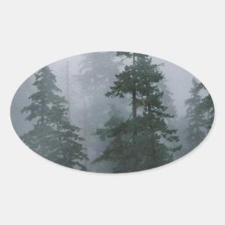 Capilla del soporte de la tormenta del claro de la pegatina ovalada