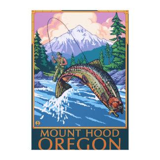Capilla del soporte, escena de OregonFisherman Lienzo Envuelto Para Galerias