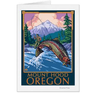 Capilla del soporte, escena de OregonFisherman Felicitacion