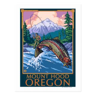 Capilla del soporte, escena de OregonFisherman Tarjetas Postales