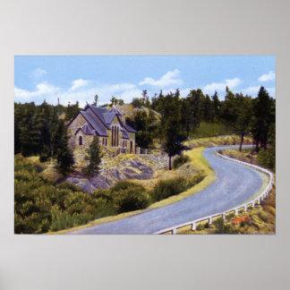 Capilla del St. Malo de Colorado del parque de Est Poster