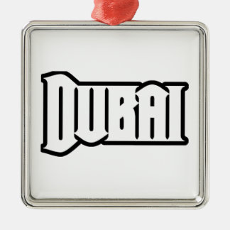 Capilla Dubai de encargo, UAE del representante Ya Adorno Navideño Cuadrado De Metal