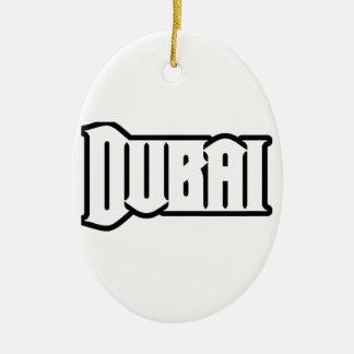 Capilla Dubai de encargo, UAE del representante Ya Adorno Navideño Ovalado De Cerámica