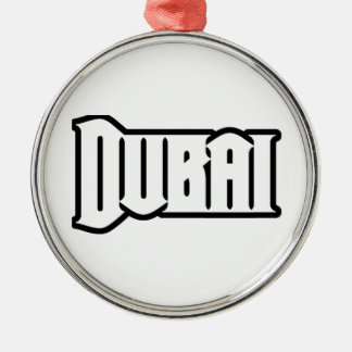 Capilla Dubai de encargo, UAE del representante Ya Adorno Navideño Redondo De Metal