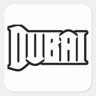 Capilla Dubai de encargo, UAE del representante Ya Pegatina Cuadrada