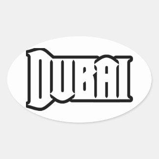 Capilla Dubai de encargo, UAE del representante Ya Pegatina Ovalada
