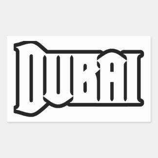 Capilla Dubai de encargo, UAE del representante Ya Pegatina Rectangular