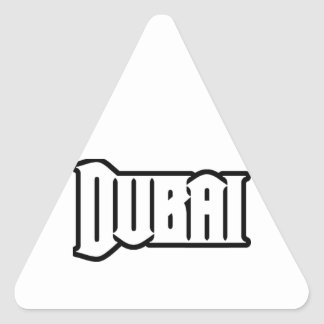 Capilla Dubai de encargo, UAE del representante Ya Pegatina Triangular