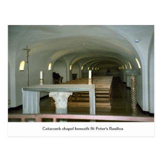 Capilla en la catacumba debajo de la basílica de S Tarjeta Postal
