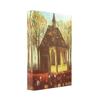 Capilla en Nuenen, religiosos practicantes de Impresiones En Lienzo Estiradas