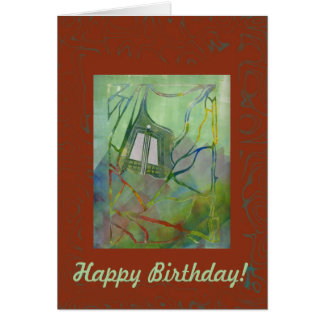 Capilla en tarjeta de cumpleaños de la primavera