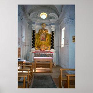 Capilla reservada del sacramento en una iglesia su póster