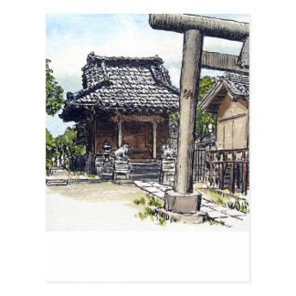Capilla sintoísta de la vecindad vieja en Tokio Tarjetas Postales