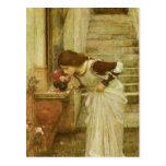 Capilla, Waterhouse de JW, retrato del Victorian d Postal