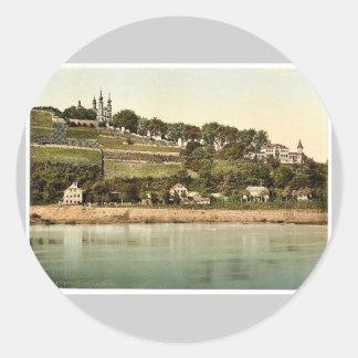 Capilla, Wurzburg, Baviera, Alemania Photochrom Etiqueta Redonda