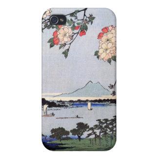 Capilla y Massaki de Suijin en el río de Sumida iPhone 4 Carcasa