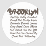 Capillas de Brooklyn Pegatina Redonda