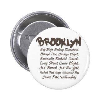 Capillas de Brooklyn Pin Redondo 5 Cm