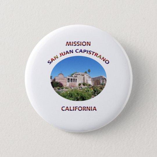 Capistrano Mission Pinback Button