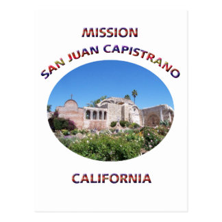 Capistrano Mission Postcard