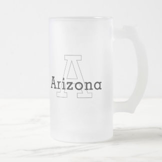 Capital A - Arizona Frosted Glass Beer Mug
