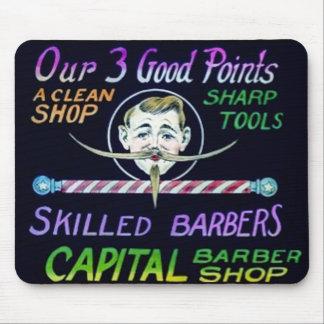 Capital Barber Shop Our 3 Good Points Vintage Mouse Pad