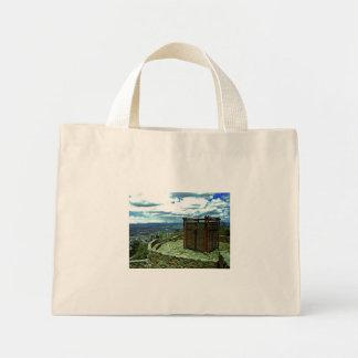 Capital Bogota, the district. Tote Bags