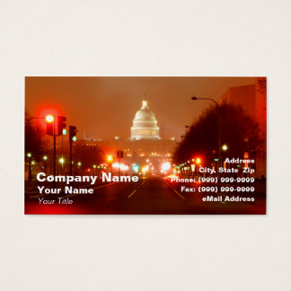 Capital Building at Night Business Card