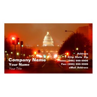 Capital Building at Night Double-Sided Standard Business Cards (Pack Of 100)
