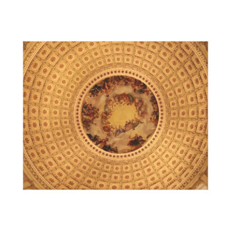 Capital Building Rotunda Dome Stretched Canvas Print