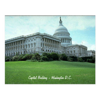 Capital Building - Washing D.C. Postcard
