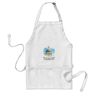 Capital Building with quote Adult Apron