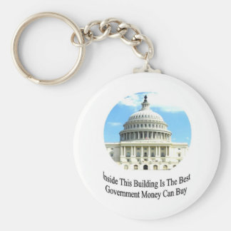 Capital Building with quote Keychain