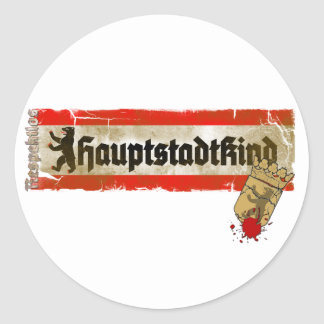 Capital child irreverently Berlin Germany Classic Round Sticker