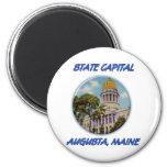 Capital del Estado Augusta Maine Imán De Nevera