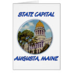 Capital del Estado Augusta Maine Tarjeton