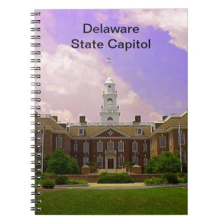 Capital del Estado de Delaware Spiral Notebook