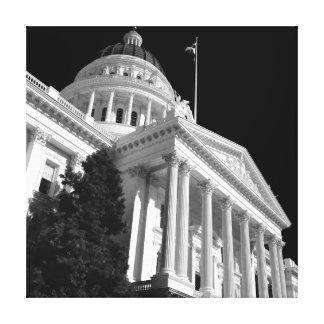 Capital del Estado de Sacramento Impresión En Lienzo Estirada