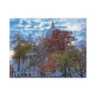 Capital del Estado de Wisconsin Lona Estirada Galerías