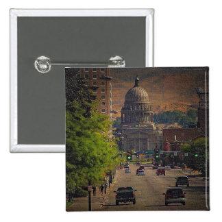 Capital del Estado en Boise, Idaho Pin Cuadrado