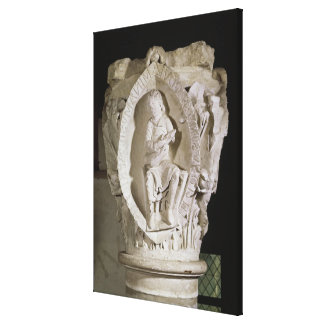 Capital depicting the First Key of Plainsong Stretched Canvas Prints